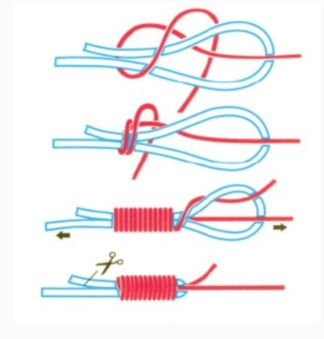 плетеный рыбацкий узел