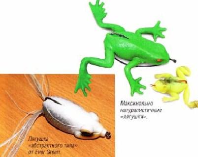 виды силиконовых лягушек