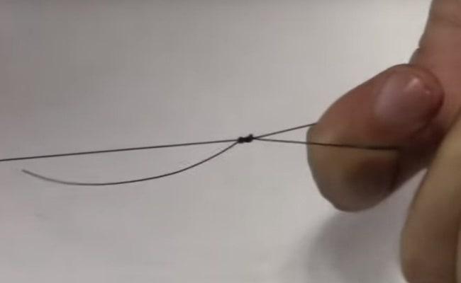 петля на леске для соединения с удочкой