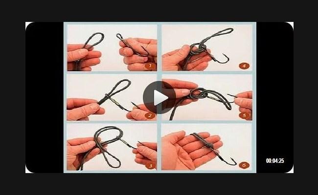 видео подборка как вязать рыболовные узлы