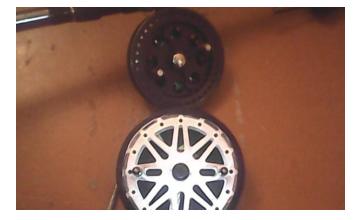 Сверху- литье алюминий, снизу – «Донская» из штампованного дюралюминия Д16А