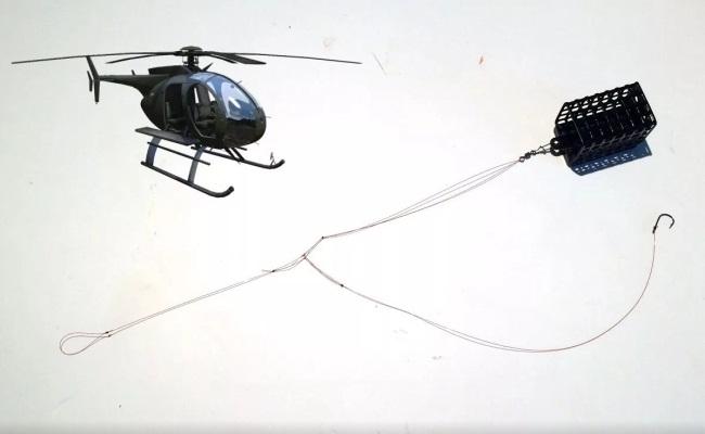монтаж оснастки вертолет для донки на течении