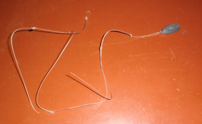 рабочий отрезок лески с поводками для закидушки