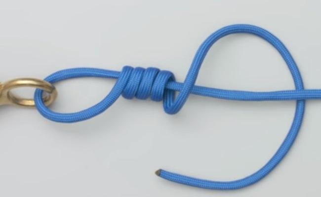 как привязать мормышку узел 2