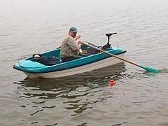 кружочник на лодке