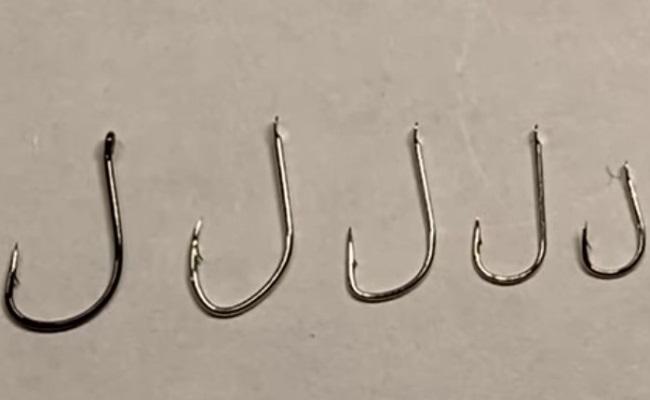 виды и формы одинарных рыболовных крючков